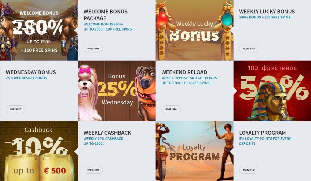 många bra bonusar i casino utan svensk licens
